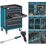 Hazet Werkstattwagen Assistent mit Sortiment, 1040 x 817 x 502 mm, Anzahl Werkzeuge 145, 1 Stück, 179-7/145