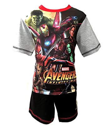 8bbb35ab519 Boys Kids Marvel Avengers Hulk Batman Spiderman Harry Potter Shortie  Pyjamas T-Shirt Shorts PJS Age 4/5 5/6 7/8 9/10