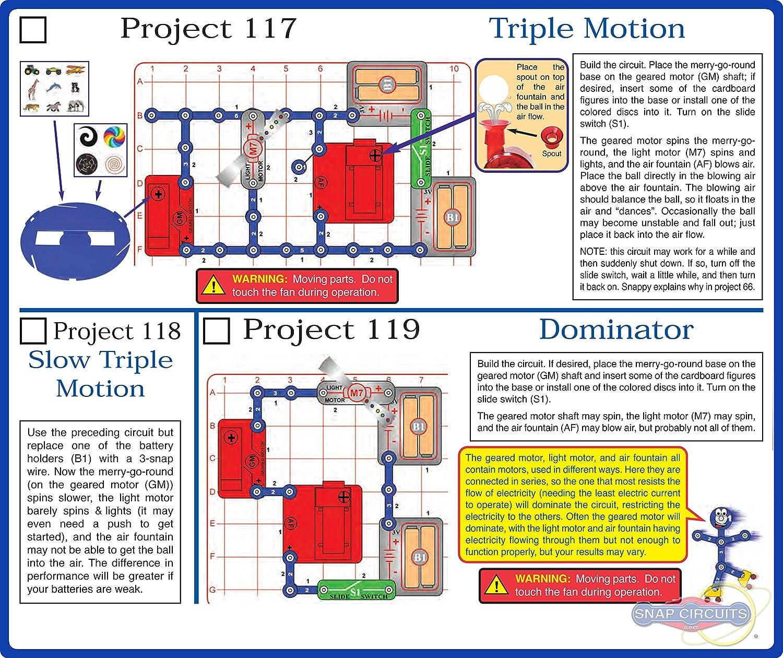 Snap Circuits Motion Electronics Discovery Kit Elenco Electronic Set Inc Scm 165