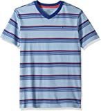 Tommy Hilfiger Big Boys' Jersey Stripe Short Sleeve V-Neck Tee