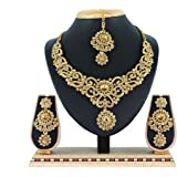 Vatsalya Creation Traditional Diamond Necklace Set Gold Plated For Women's
