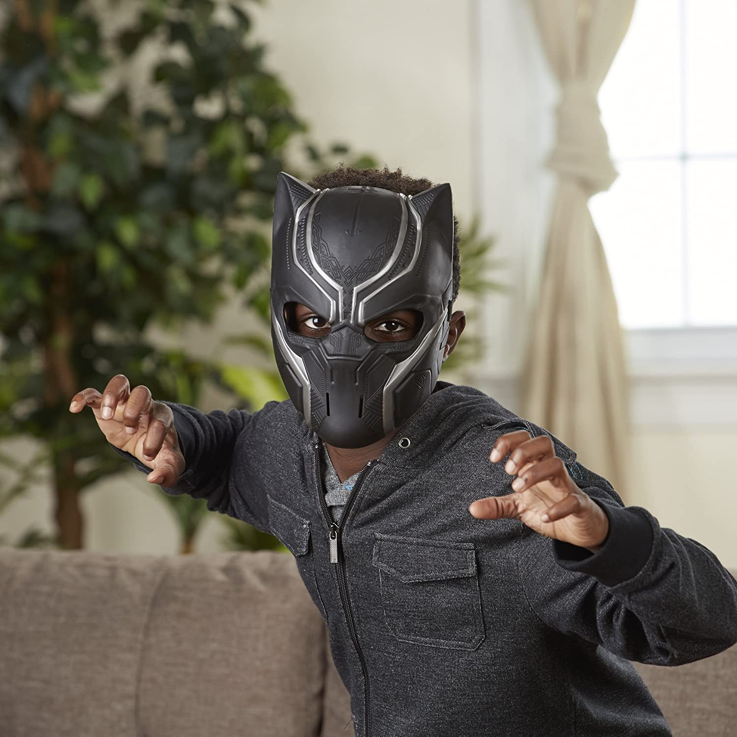Panther Mask Pretend Play Mask Cosplay Dress Up Mask Halloween Costume Creative Play Black Panther Inspired Mask Kid /& Adult
