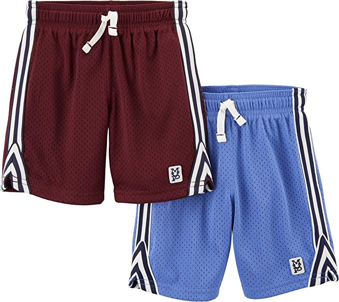 Spotted Zebra Boys 2-Pack Active Mesh Shorts Pack of 2