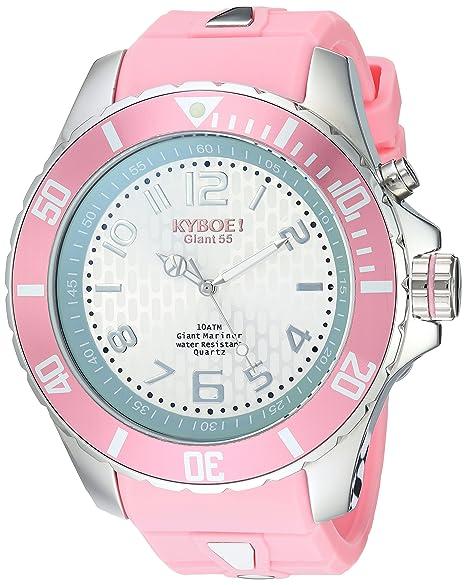 KYBOE KY.55-028.15 - Reloj de pulsera unisex, Silicona, color Rosa