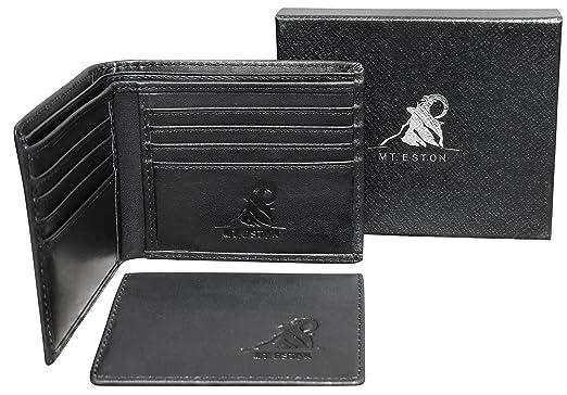 1e0f30e772ef1 Mt. Eston RFID Blocking Mens Wallet with Removable ID Holder Card Case 17  Pocket