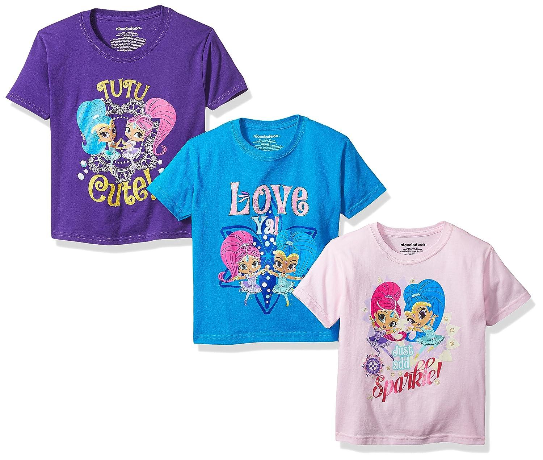 Nickelodeon Girls' 3-Pack Short Sleeve T-Shirt C-Life Children' s Apparel AZ3PKNKS1