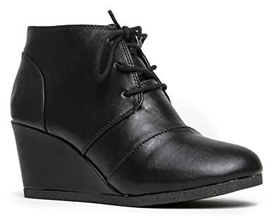 Nature Breeze Rex-S Bootie Boots Black Pu 6