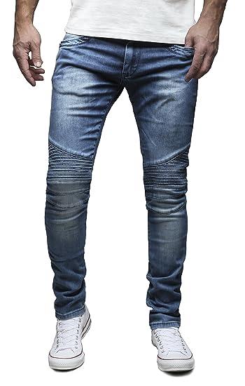 MERISH 5-Pocket Denim Biker Style Jeans Slim Fit Various Styles and Washes  Modell J1166: Amazon.co.uk: Clothing