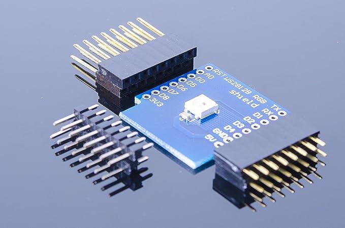 Amazon com: ACROBOTIC WeMos ESP8266 D1 Mini WS2812B RGB LED Shield