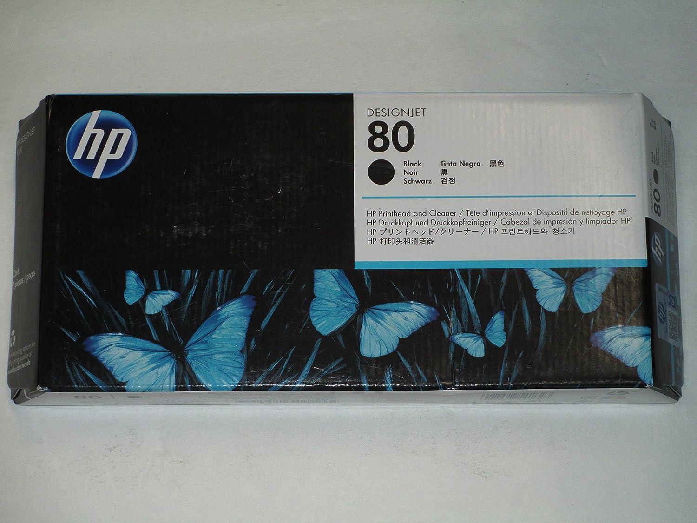 HP C4820-80034 OEM - No. 80 Black printhead and printhead Cleaner Bundle