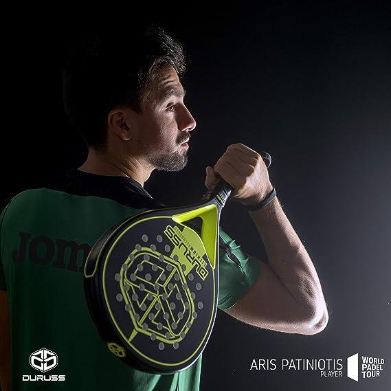Duruss Avanzado Lithium Recharged Pala de Pádel, Adultos Unisex, Black/Yellow