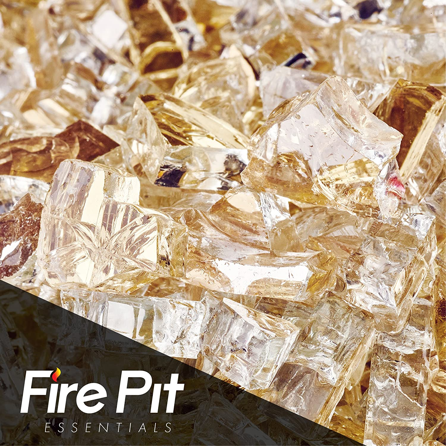 Gold Strike Reflective Fire Glass 1/4