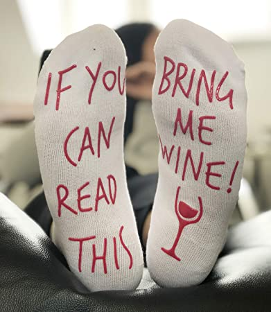 28df998065d1 'If You Can Read This Bring Me Wine' Funny Socks for wine lover who has  everything: Amazon.co.uk: Toys & Games