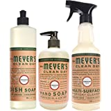 Mrs. Meyer's Kitchen set, Geranium, 3 ct: dish soap, hand soap & multi-surface everyday cleaner