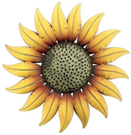 Metal Decorative 14 U0026quot; Sunflower Wall Plaque