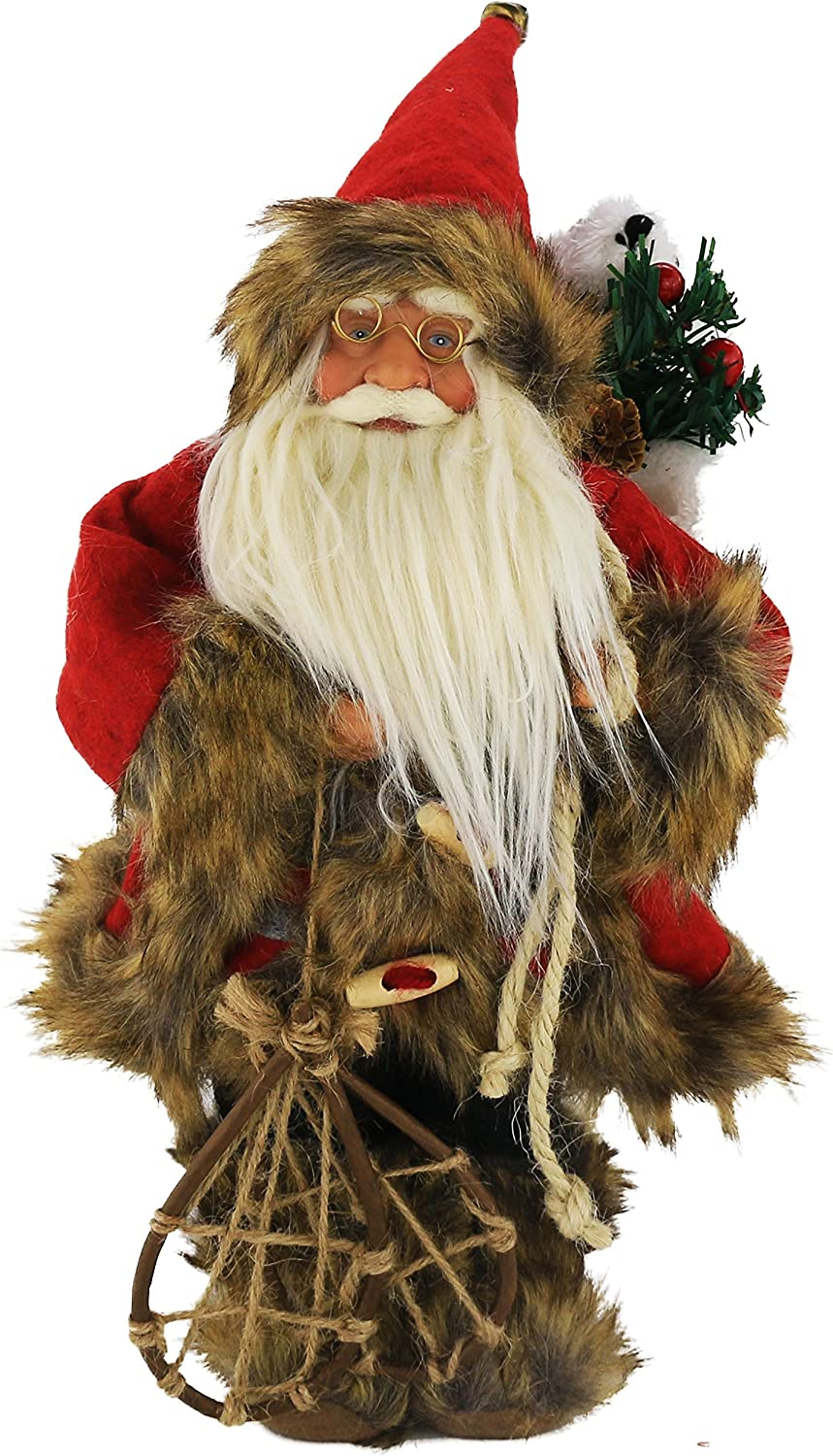 Standing Santa Claus Father Figure Doll Christmas Xmas Ornaments Home Decor Gift