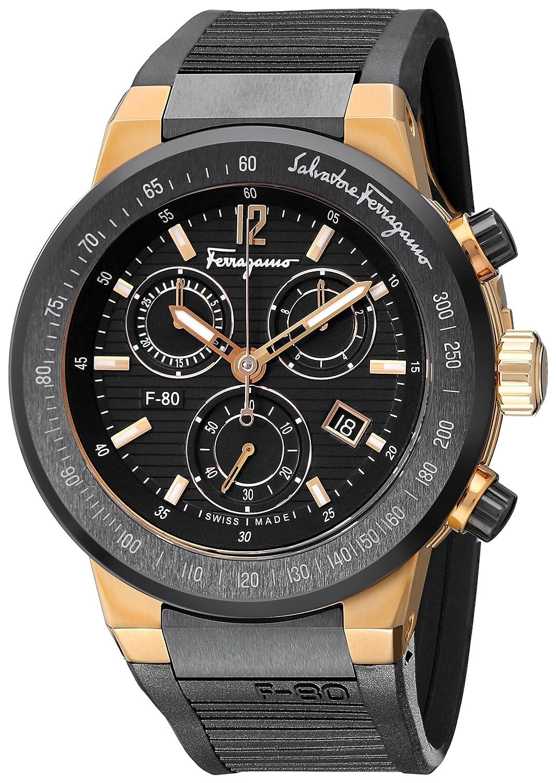 Salvatore Ferragamo Men s F55LCQ75909 S113 F-80 Rose Gold-Plated Watch