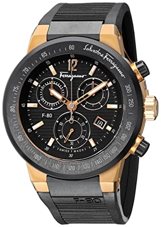 amazon com salvatore ferragamo men s f55lcq75909 s113 f 80 rose salvatore ferragamo men s f55lcq75909 s113 f 80 rose gold plated watch