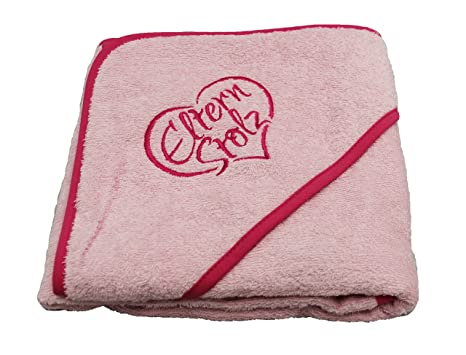 kuschliges Padres orgullo de toalla con capucha 80 x 80 cm, certificado Ökotex de gran