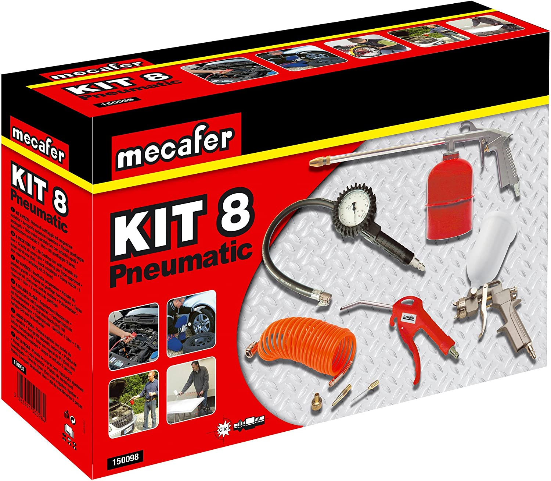 Mecafer 425090 Compresseur 50 L 2 hp fifty mecafer /& Einhell Kit daccessoires pour compresseur diam/ètre int/érieur 6 mm 1 pistolet de soufflage 1 manom/ètre de gonflage 1 tuyau de 4m
