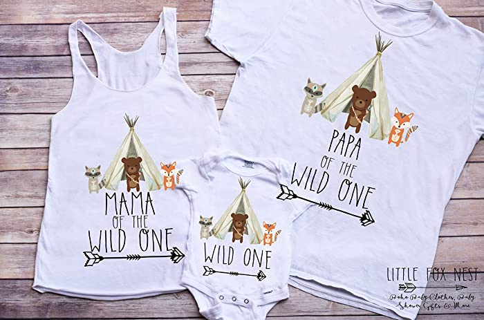 Amazon Wild One Shirt Matching Family Shirts Birthday Handmade
