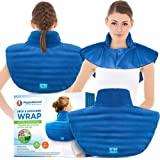 Microwavable Large Neck and Shoulder Wrap – Instant Relief for Muscle Pain, Tension and Stress, Stiffness, Arthritis, Migrain