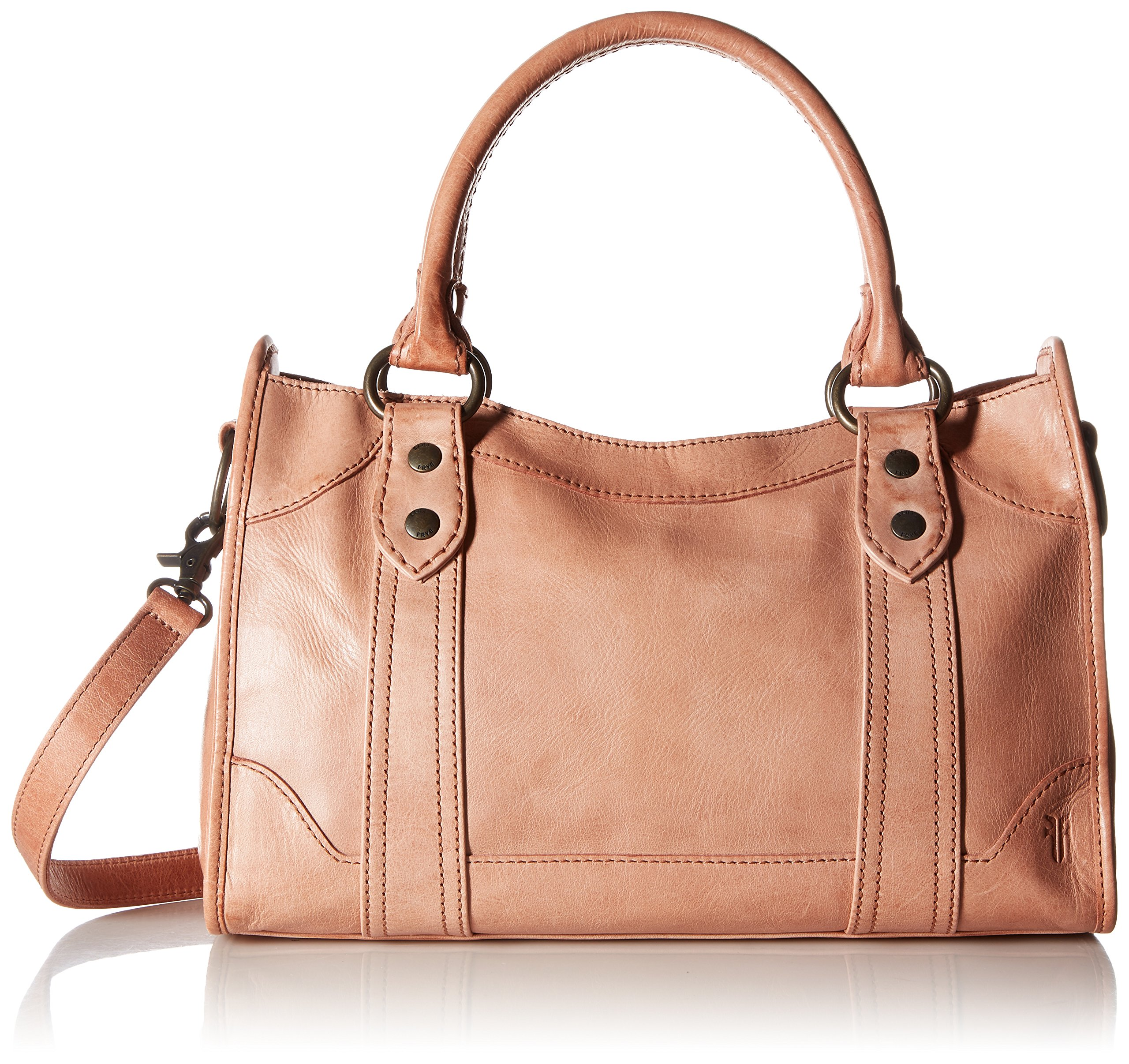 FRYE Melissa Zip Satchel Leather Handbag, dusty rose by FRYE (Image #1)