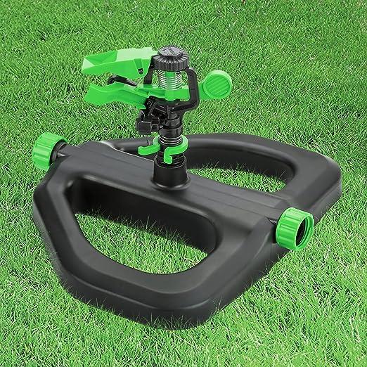 HOME SPECIAL Césped aspersor, completo Automático de Riego aspersores jardín, césped de alto rendimiento sistema de riego de agua para su Garden- verde, giratorio, ajustable impulso cabeza (verde): Amazon.es: Jardín