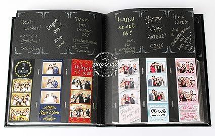 amazon com paper cut design shop photo booth album slip in plastic