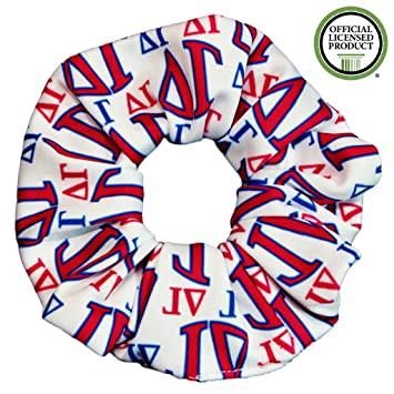 Delta Gamma Sorority Scrunchies Officially Licensed Greek Letters Print Ponytail Holders Scrunchie King Made in the