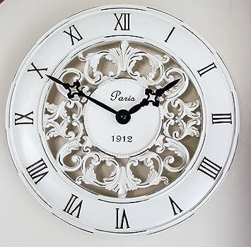 clocks - orologio da parete in stile shabby chic, complemento ... - Orologio Da Parete Per Cucina