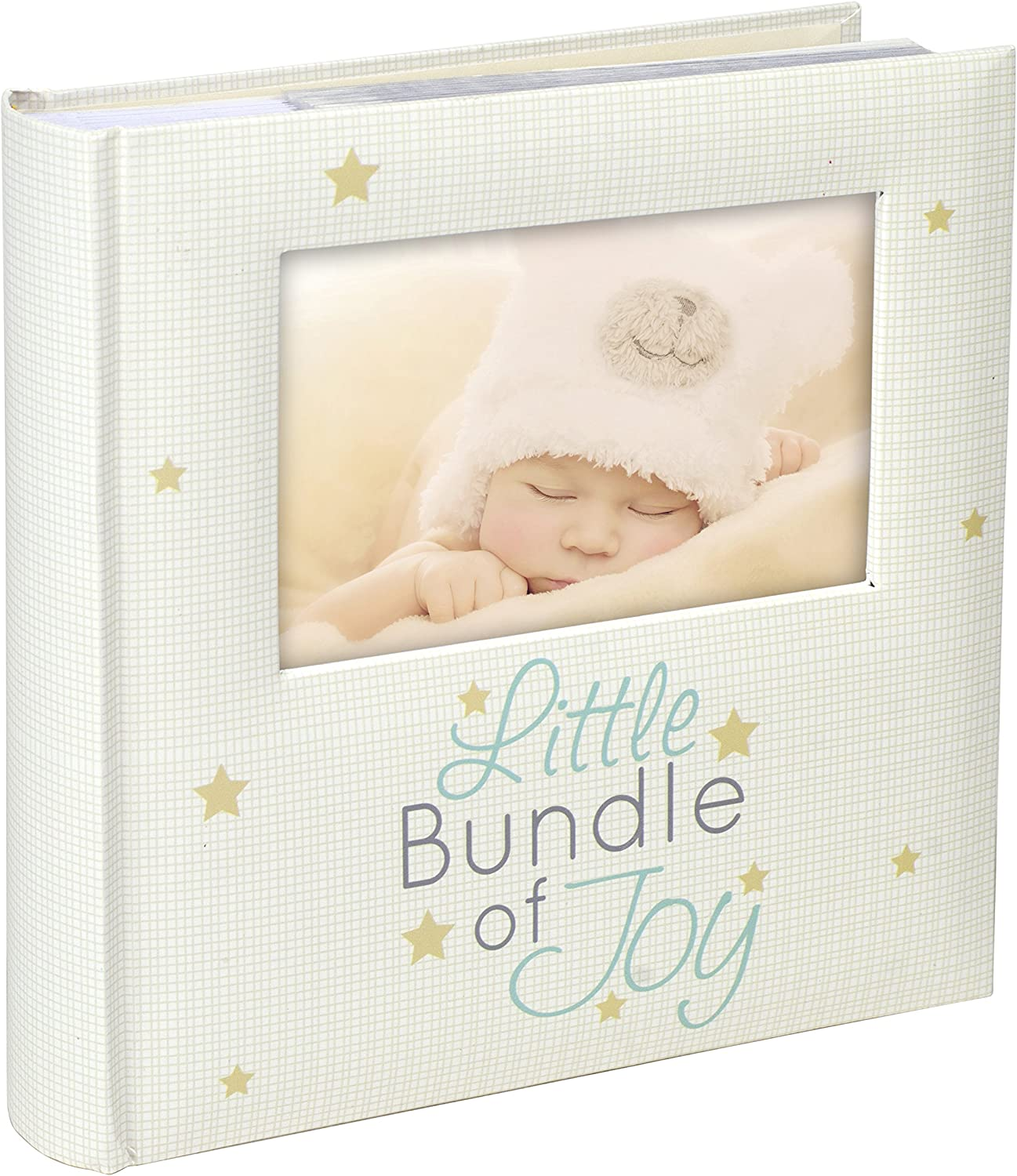 Amazon Com Malden International Designs Little Bundle Of Joy With Photo Opening Cover Photo Album 160 4x6 White Arts Crafts Sewing
