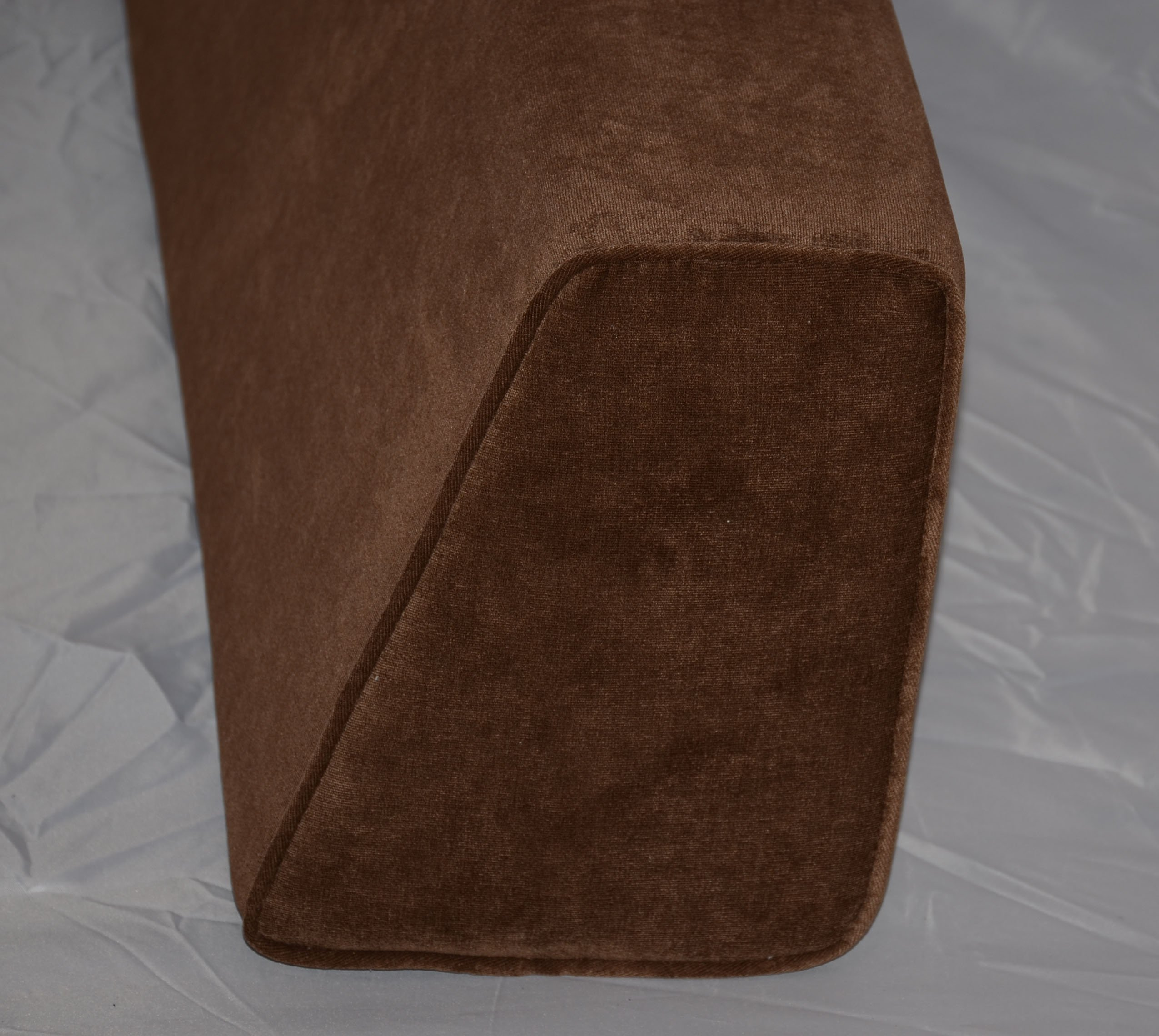 DQP Wedge Bolster Cover (Antique Velvet-Chocolate) by DQP