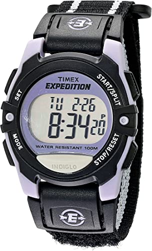 Amazon.com: Timex Unisex T49658 Expedition Classic Digital Chrono Alarm  Timer Black Fast Wrap Velcro Strap Watch: Watches