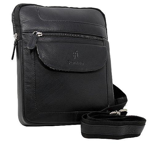 c12c61db03a2 STARHIDE Designer Unisex Bag Genuine Leather Cross Body Shoulder Travel Messenger  Bag for Ipad