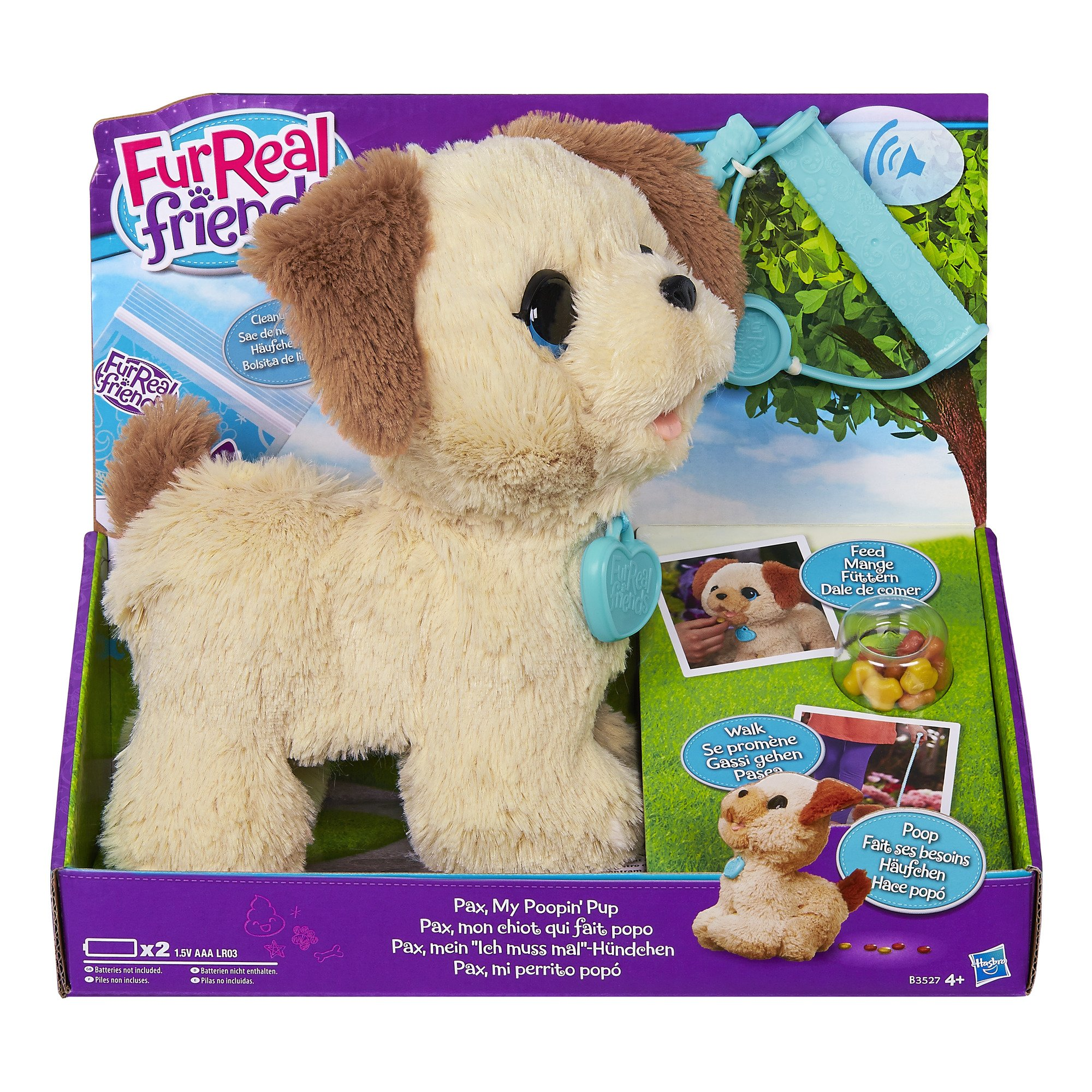 """FURREAL FRIENDS """"Pax/My Poopin"""" Pup Toy (Multi-Colour)"""