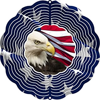 "product image for Next Innovations 101408001-PATRIOTIC Wind Spinner, 10"" Diameter, Multicolor"