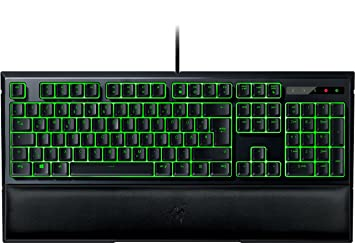 Razer Ornata Gaming Tastatur (mit den Mecha-Membran Tasten, Halbhohen Tastenkappen, Individueller grüner Beleuchtung und Ergo