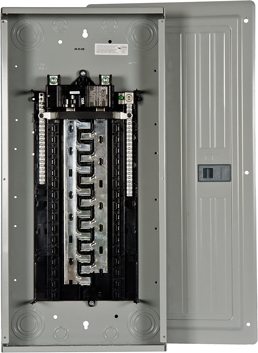 Siemens 40-Circuit 30-Space 200-Amp Load Main Breaker Electrical Panel Box