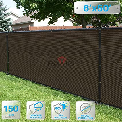 Amazon Com Patio Paradise 6 X 50 Brown Fence Privacy Screen
