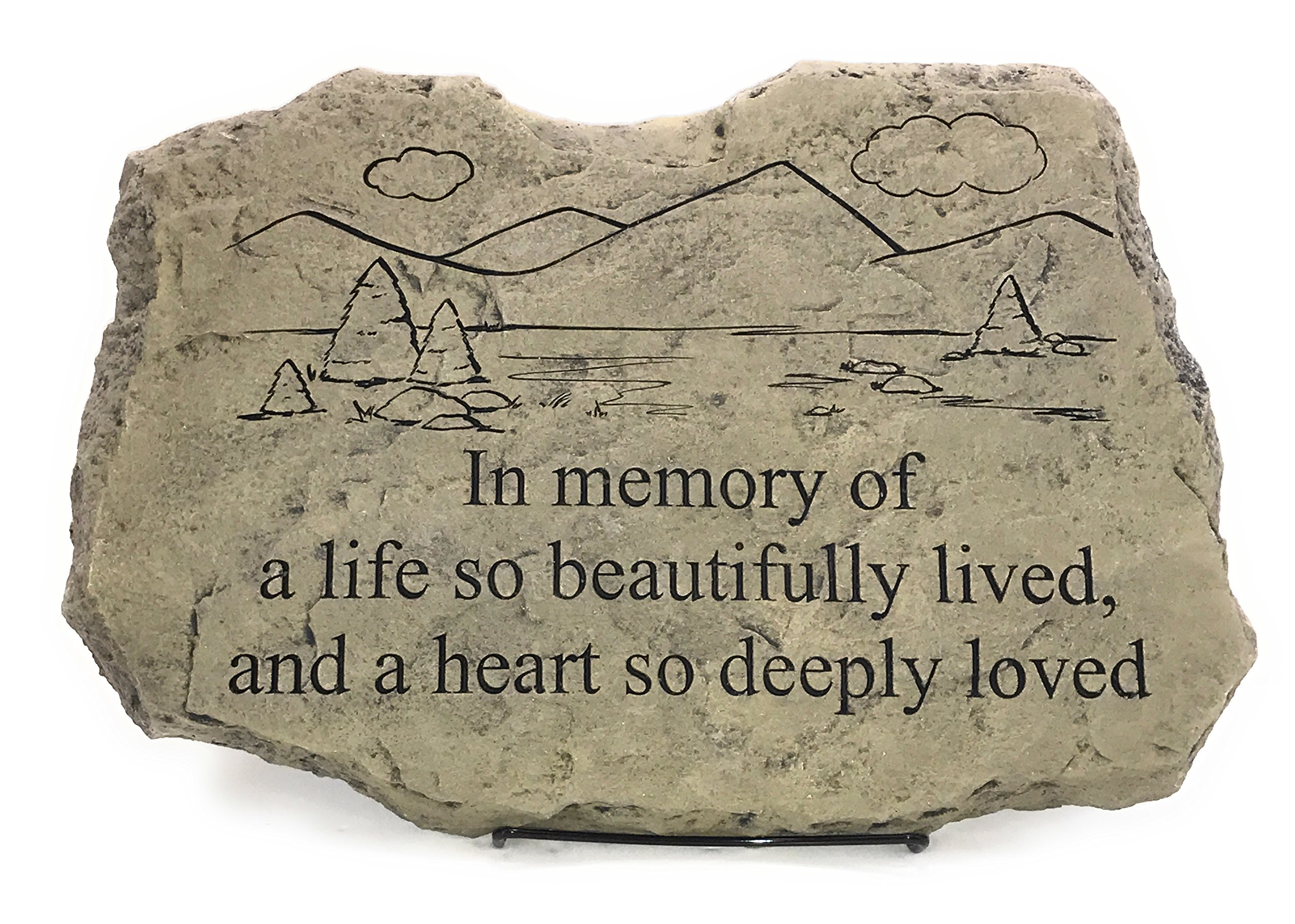 Kay Berry A Life So Beautifully Lived; Memorial Stone 10x15 OWW ;With Stand
