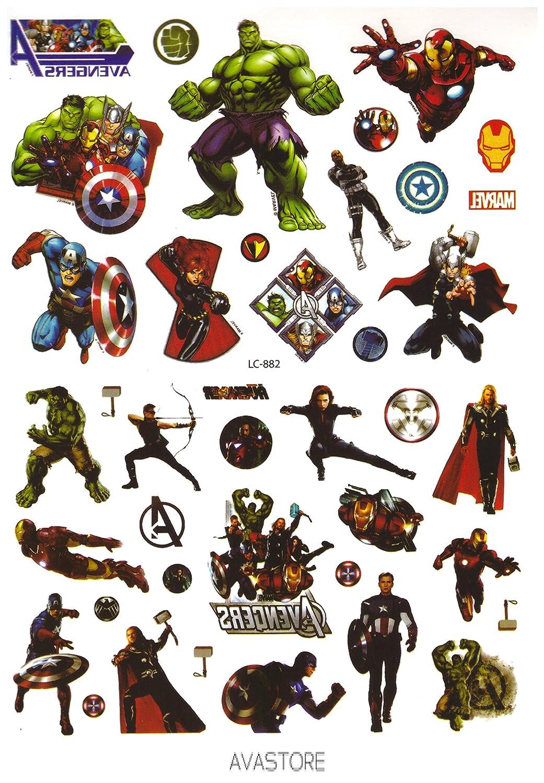 Tatuaje Temporal Super héroe Avengers – Tatuaje efímero Super ...
