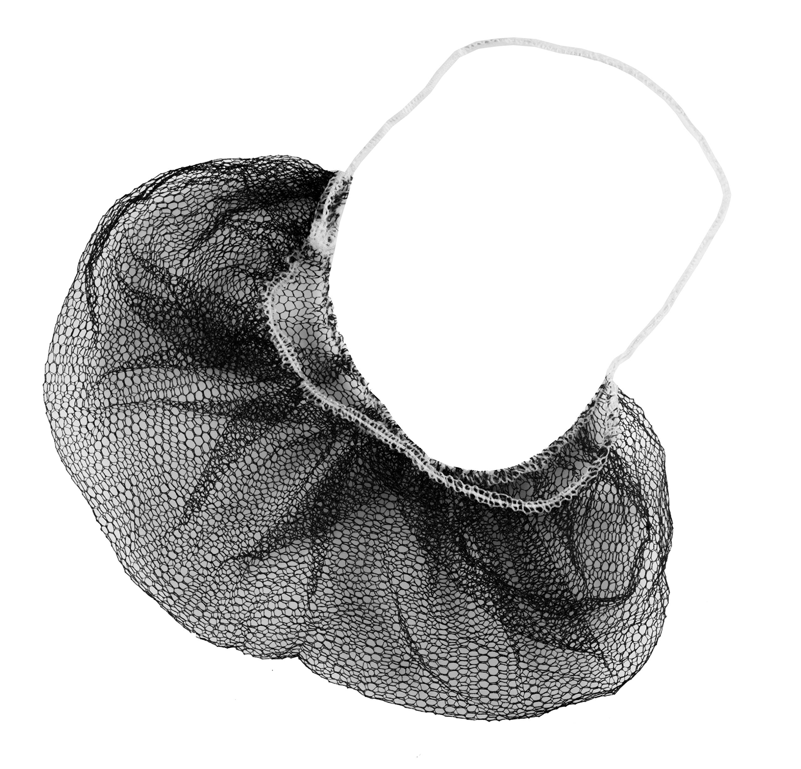 ABC 100 Pack of Disposable Soft Nylon Beard Covers 18''. Brown beard guards. Premium Quality beard net protectors. Honeycomb beard nets. Facial hair covering. Breathable & Lightweight. Wholesale.