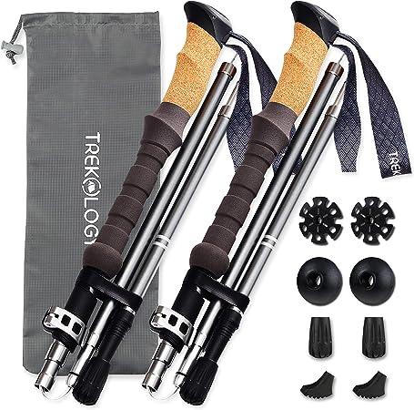 Pairs sticks walking hiking telescopic lightweight 220g eva cork