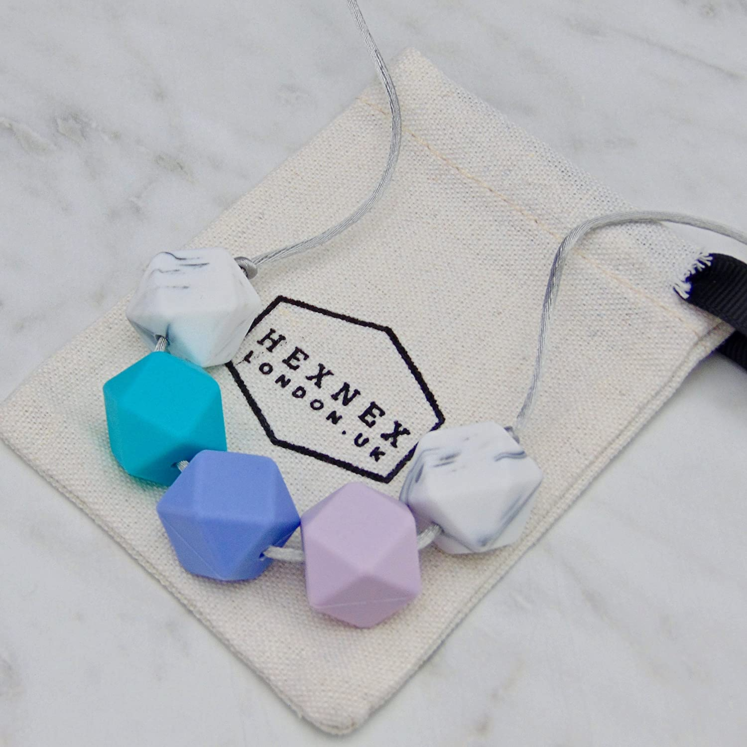 June Alexandrite Birthstone Baby Proof Silicone Teething Necklace for  Breastfeeding Babywearing and Teething New Mum New Baby Shower Gift BPA  Free  ... 3087ce1b257