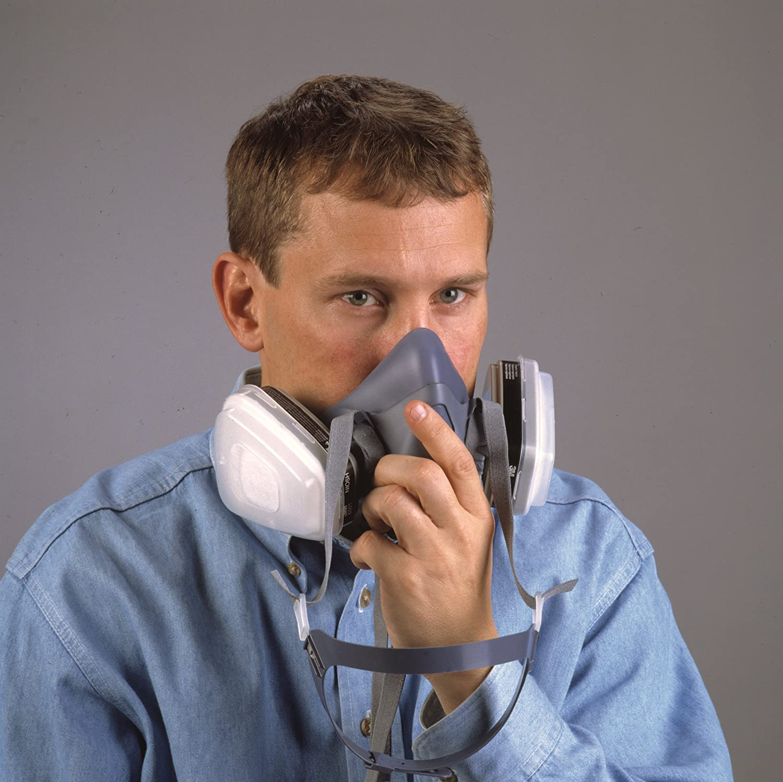 3M Safety 142-7502 7500 Series Reusable Half Face Mask Respirator Medium Light Blue