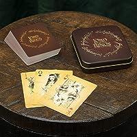Paladone De Heer van de Ringen Speelkaarten Standaard Dek met reliëf Tin