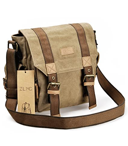 Image Unavailable. Image not available for. Color  ZLYC Canvas Messenger ... 2409f3939a6c0