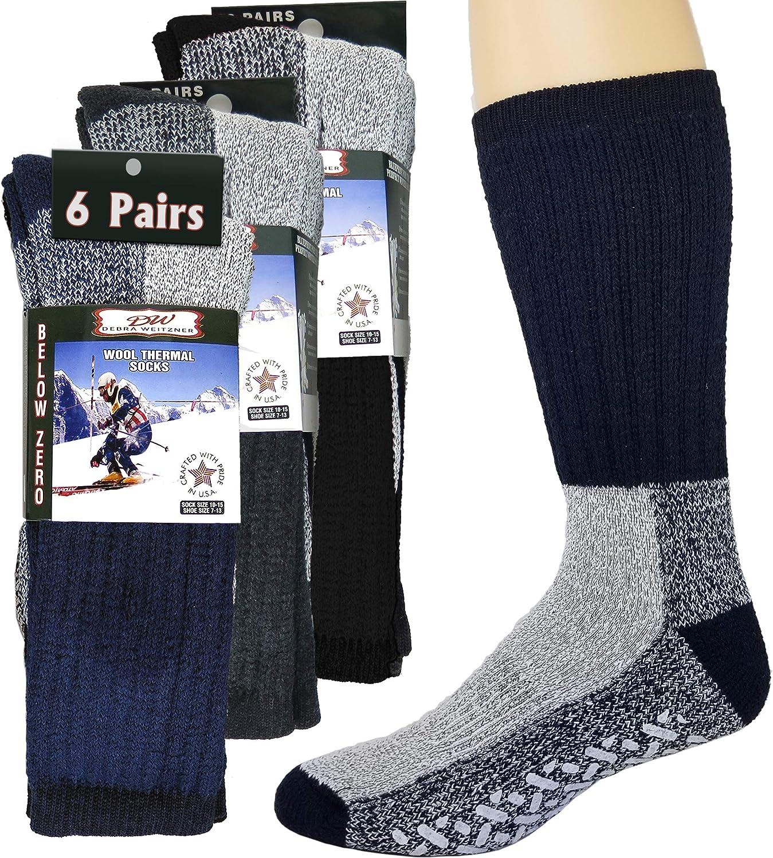 6 Pairs Merino Wool Winter Socks For Men and Women Athletic Socks Warm Thick Socks Debra Weitzner
