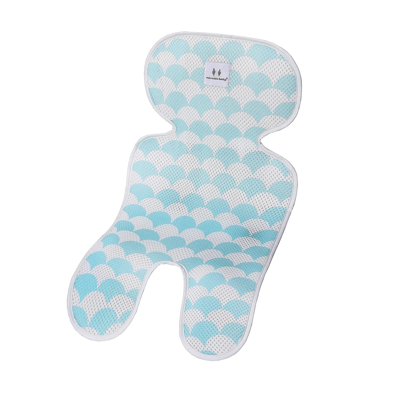 Babyschale f/ür Kinderwagen doppelseitige Verwendung 3D-Mesh-Sitzkissen//Kissen f/ür Kinderwagen und Autositz Einzelne Schicht, Blau
